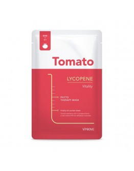 Тканевая маска VPROVE Phyto Therapy Mask Sheet Tomato Lycopene Vitality с томатом, увлажняющая