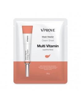 Кремовая маска для лица VPROVE Mask Master Cream Sheet Multi Vitamin с витаминами тонизирующая