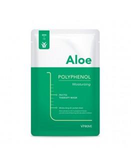 Тканевая маска VPROVE Phyto Therapy Mask Sheet Aloe Polyphenol Moisturizing с алоэ противовоспалительная