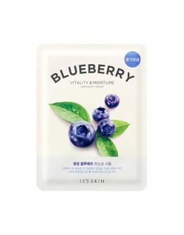 Лифтинг тканевая маска It's Skin The Fresh Blueberry Mask Sheet (черника)