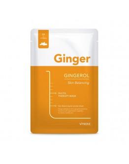 Тканевая маска VPROVE Phyto Therapy Mask Sheet Gingerol Skin Balancing с имбирем укрепляющая