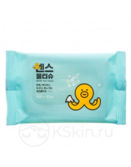 Влажные салфетки для кожи лица и тела Joong Won Sense Secret Day Wet Wipes 10 шт