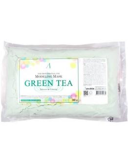 Маска альгинатная с экстрактом зеленого чая успокаивающая (пакет) Anskin Green Tea Modeling Mask