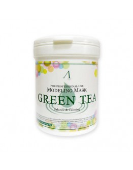 Маска альгинатная с экстрактом зеленого чая успокаивающая (банка) Anskin Green Tea Modeling Mask