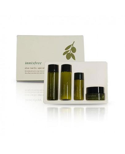 Набор уходовых средств с оливой (тонер, лосьон, сыворотка, крем) Innisfree Olive Real Ex. Special Kit