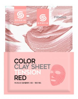 Маска для лица глиняная листовая G9 SKIN Color Clay Sheet Tension Red