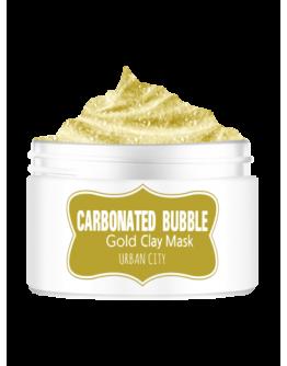 Маска для лица глиняно-пузырьковая с золотом Urban City Carbonated Bubble Gold Mask