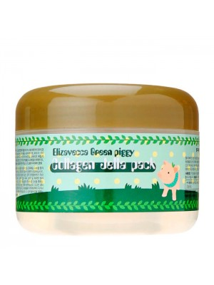 Лифтинг-маска для лица желейная с коллагеном Elizavecca Green Piggy Collagen Jella Pack