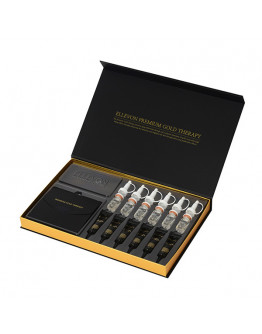 Антивозрастная программа Золотая терапия Ellevon Premium Gold Therapy (сыворотка, маска, золотые листы)