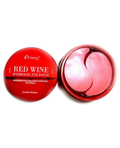 Гидрогелевые патчи для глаз с красным вином Esthetic House Red Wine Hydrogel Eyepatch 60 шт