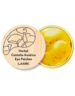 Гидрогелевые патчи с экстрактом центеллы L.Sanic Herbal Centella Asiatica Hydrogel Eye Patches 60 шт
