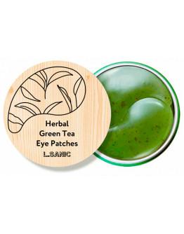 Гидрогелевые патчи с экстрактом зеленого чая L.Sanic Herbal Green Tea Hydrogel Eye Patches 60 шт