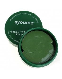 Патчи для век от отечности с экстрактом зеленого чая и алоэ Ayoume Green Tea+Aloe Eye Patch 60 шт
