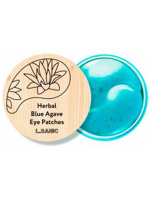 Гидрогелевые патчи с экстрактом голубой агавы L.Sanic Herbal Blue Agave Hydrogel Eye Patches 60 шт