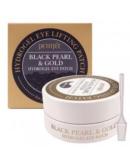 Гидрогелевые патчи для глаз Petitfee Black Pearl & Gold Eye Patch 60 шт