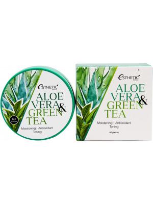Гидрогелевые патчи с алоэ и зеленым чаем Esthetic House Aloe Vera & Green Tea Hydrogel Eye Patch 60 шт