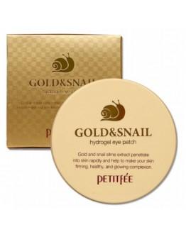 Гидрогелевые патчи для глаз Petitfee Gold & Snail Eye Patch 60 шт
