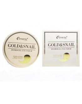 Гидрогелевые патчи для глаз с золотом и улиткой Esthetic House Gold & Snail Hydrogel Eyepatch