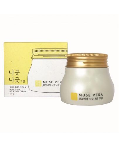 Крем для лица расслабляющий с медом и молоком Muse Vera Relaxing Cream 120 мл