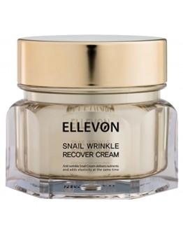 Антивозрастной крем с экстрактом улитки Ellevon Snail Wrinkle Recover Cream 100мл