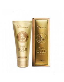 Пенка для умывания с золотом и муцином улитки Elizavecca 24K Gold Snail Cleansing Foam 180 мл