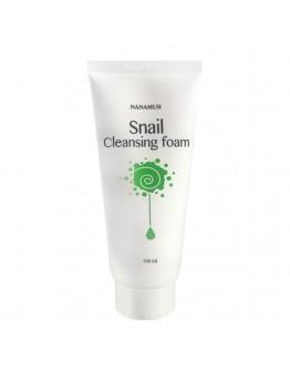 Пенка для умывания с улиточным муцином Nanamus Snail Cleansing Foam