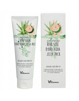 Увлажняющая маска-гель с 92% алоэ и коллагеном Elizavecca Milky Piggy Herb Soul Hydro Aqua Jella Pack 250 мл