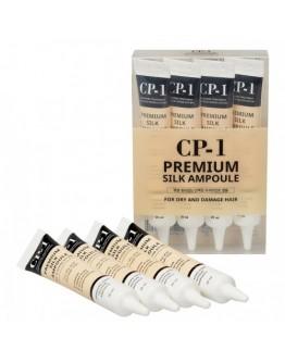 Несмываемая сыворотка для волос с протеинами шелка CP-1 Premium Silk Ampoule 4 шт