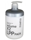 Маска для волос восстанавливающая Pampas Volume X2 LPP Pack 1000 мл