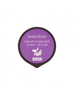 Питательная ночная маска Innisfree Capsule Recipe Pack - Aronia 10 мл