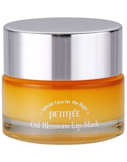 Маска для губ с витамином Е и маслом облепихи Petitfee Oil Blossom Lip Mask Sea Buckthorn Oil 15 мл