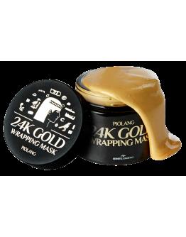 Маска-пленка для лица с 24 каратным золотом Esthetic House Piolang 24k Gold Wrapping Mask 80 мл