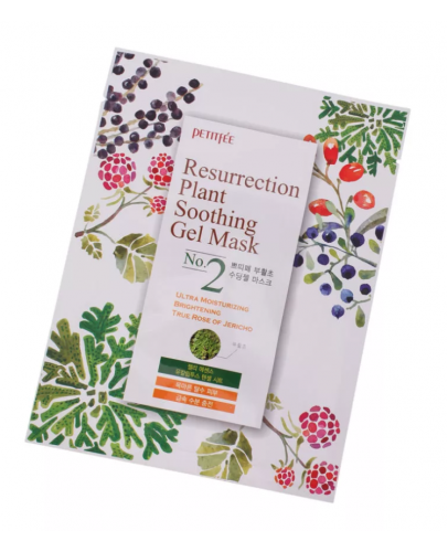 Маска для лица тканевая Иерихонская Роза Petitfee Resurrection Plant Soothing Gel Mask