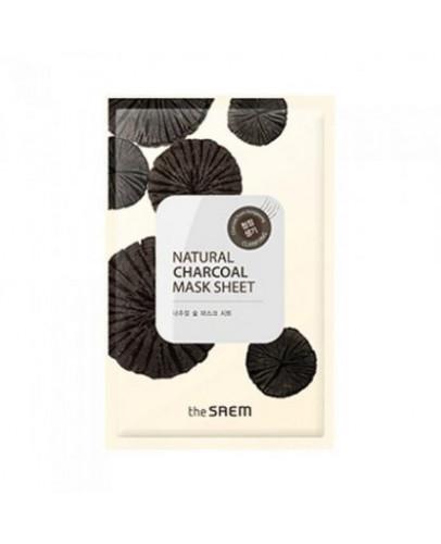 Маска тканевая с древесным углем The Saem Natural Charcoal Mask Sheet