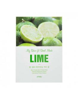 Маска осветляющая с экстрактом лайма A'pieu My Skin-Fit Sheet Mask Lime