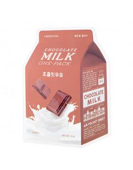 Смягчающая маска с экстрактом какао и сливы A'Pieu Chocolate Milk One-Pack