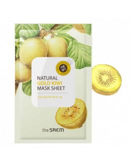 Маска тканевая с экстрактом киви The Saem Natural Gold Kiwi Mask Sheet