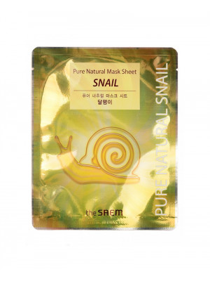 Восстанавливающая маска с муцином улитки The Saem Pure Natural Mask Sheet (Snail)