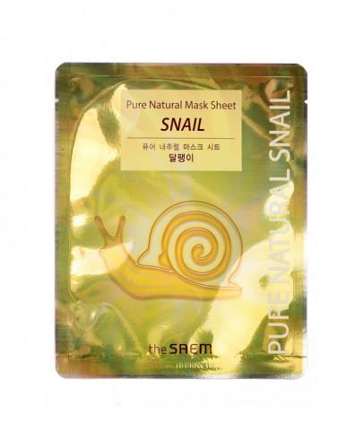 Восстанавливающая маска с муцином улитки The Saem Pure Natural Mask Sheet (Snail)