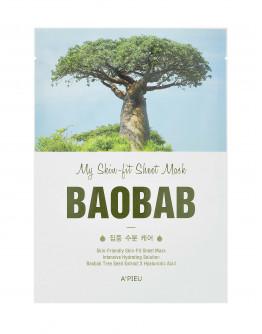 Маска интенсивно увлажняющая с экстрактом баобаба A'pieu My Skin-Fit Sheet Mask Baobab Tree