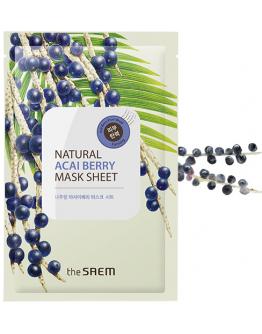 Маска тканевая с экстрактом ягод асаи The Saem Natural Acai Berry Mask Sheet