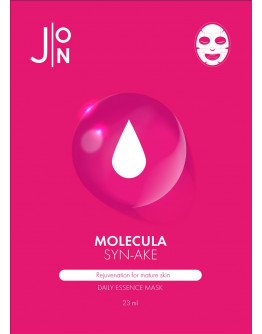 Тканевая маска для лица со змеиным пептидом J:ON Molecula Syn-Ake Daily Essence Mask