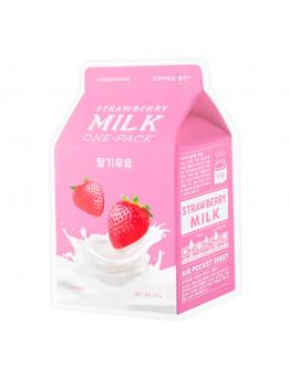 Осветляющая маска с экстрактом клубники A'Pieu Strawberry Milk One-Pack