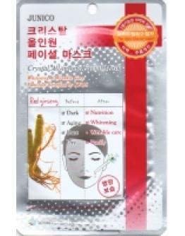 Маска тканевая c красным женьшенем Junico Crystal All-in-one Facial Mask Red Ginseng