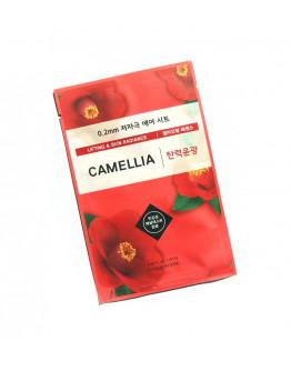 Маска для упругости и яркости кожи с маслом камелии Etude House 0.2 Therapy Air Mask Camellia
