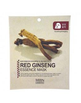 Маска для лица тканевая красный женьшень MJ Red Ginseng Essence Mask
