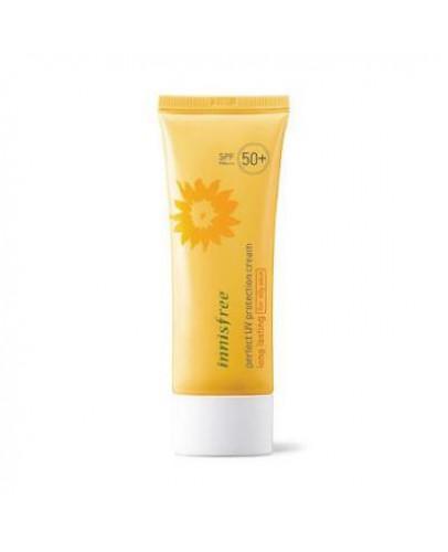 Водостойкий солнцезащитный крем для сухой кожи Innisfree Perfect UV Protection Cream SPF 50+ PA++++