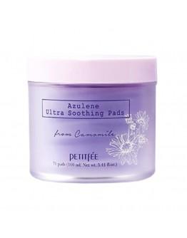 Ультрауспокаивающие подушечки с азуленом Petitfee Azulene Ultra Soothing Pads 70 шт
